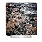 Rock Formations At Georgian Bay Shower Curtain