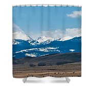 Rocky Mountains Road Shower Curtain