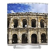 Roman Arena In Nimes France Shower Curtain