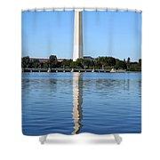 Roosevelt Looking At Washington Shower Curtain