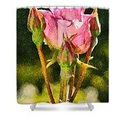 Rose Flower Shower Curtain