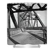 Route 66 - Chain Of Rocks Bridge Shower Curtain