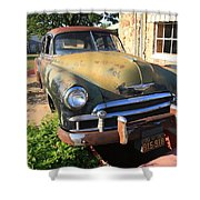 Route 66 Classic Car Shower Curtain