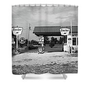 Route 66 Gas Station Shower Curtain