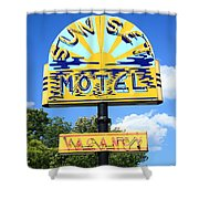 Route 66 - Sunset Motel Shower Curtain