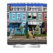 Row Houses In Washington D.c. Shower Curtain
