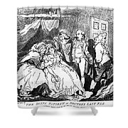 Rowlandson: Quack Doctor Shower Curtain