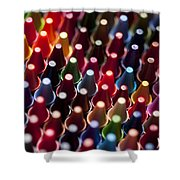 Rows Of Multicolored Crayons  Shower Curtain