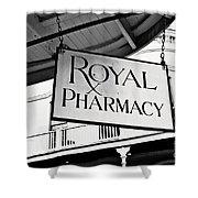 Royal Pharmacy - Bw Shower Curtain