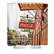 Royal Pharmacy Soda Sign Shower Curtain
