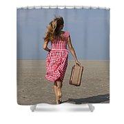 Running Away Shower Curtain