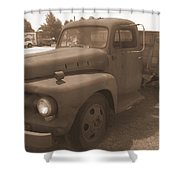 Rusty Ford Truck Shower Curtain