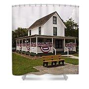 Ryckman House In Melbourne Beach Florida Shower Curtain by Allan  Hughes