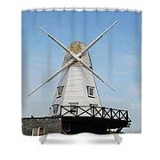 Rye Windmill Shower Curtain
