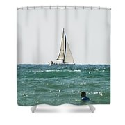 Sailing In California Shower Curtain