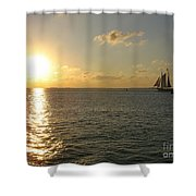 Sailing Into The Sunset - Key West Shower Curtain