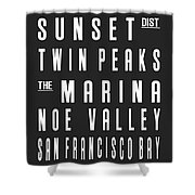 San Francisco City Subway Sign Shower Curtain
