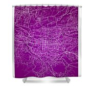 San Jose Street Map - San Jose Costa Rica Road Map Art On Colore Shower Curtain