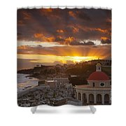 San Juan Sunrise Shower Curtain