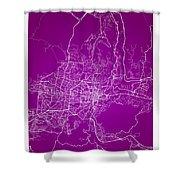 San Salvador Street Map - San Salvador El Salvador Road Map Art  Shower Curtain