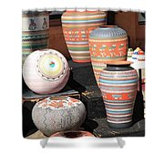 Santa Fe - Pottery Shower Curtain