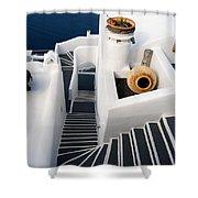 Santorini Steps Shower Curtain