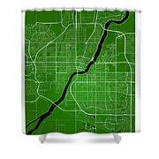 Saskatoon Street Map - Saskatoon Canada Road Map Art On Colored  Shower Curtain