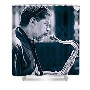 Saxophone Player Shower Curtain