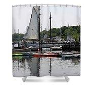 Schooner Camden Harbor - Maine Shower Curtain