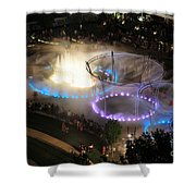 D101l-216 Scioto Mile Riverfront Park Fountain Photo Shower Curtain