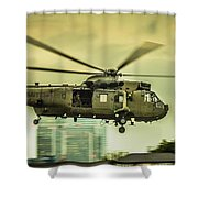 Sea King Helicopter Shower Curtain