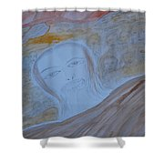 Sea Of Faces Shower Curtain
