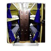 Seaman Lockers And Bunks Aboard Uss Shower Curtain