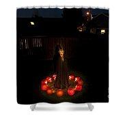 Seance Pumpkins Demon Shower Curtain