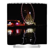 Seattle Ferris Wheel Shower Curtain