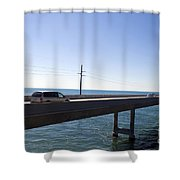 Seven Mile Bridge Florida Keys Shower Curtain