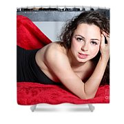 Sexy Woman Shower Curtain