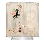 Shabby Chic Ballet Shower Curtain