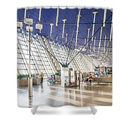 Shanghai Pudong Airport In China Shower Curtain