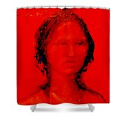 She Walks In Beauty Shower Curtain by Johanna Elik