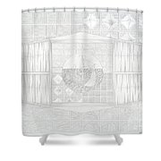 Ship In The Ring Shower Curtain