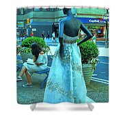 Sidewalk Catwalk 13 Shower Curtain