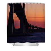 Sidney Lanier Bridge At Sunset Shower Curtain