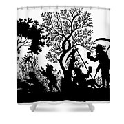 Silhouette Daily Life Shower Curtain