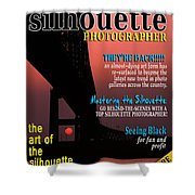 Silhouette Photographer Faux Magazine Cover Shower Curtain