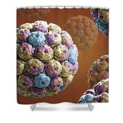 Simian Immunodeficiency Virus Shower Curtain