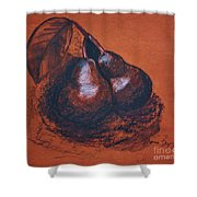 Simply Pears Shower Curtain