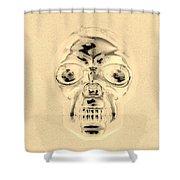 Skull In Sepia Shower Curtain