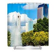 Skyline Of A Modern City - Charlotte North Carolina Usa Shower Curtain