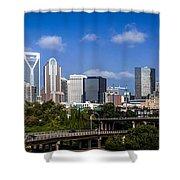 Skyline Of Uptown Charlotte North Carolina. Shower Curtain by Alex Grichenko
